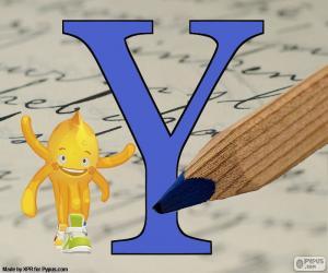 Griechischen Buchstaben Ypsilon puzzle