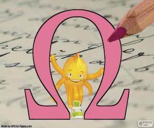 Griechischer Buchstabe Omega puzzle