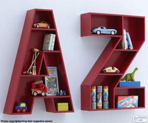 Großbuchstaben A, und Z puzzle
