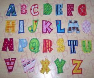 Großbuchstaben, alphabet puzzle