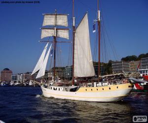 Großen Segelboot puzzle