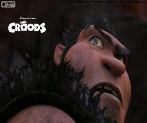 Grug, ein Höhlenmensch und Patriarch der Familie Croods puzzle