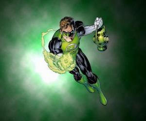 Grüne Laterne oder Grüne Leuchte, hat der Superheld eine Macht Ring, eine der mächtigsten Waffen in das Universum puzzle