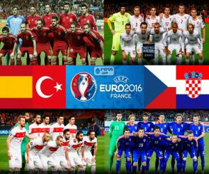 Gruppe D, Euro 2016 puzzle