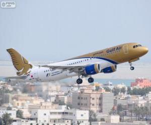 Gulf Air, die nationale Fluggesellschaft des Königreichs Bahrain puzzle