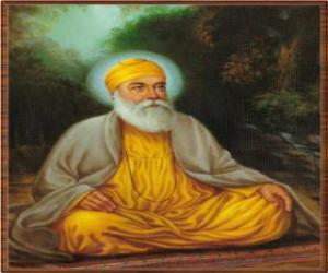 Guru Nanak Dev, dem gründer der Sikhismus puzzle
