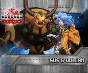 Gus und seine Bakugan Vulcan Vormund puzzle