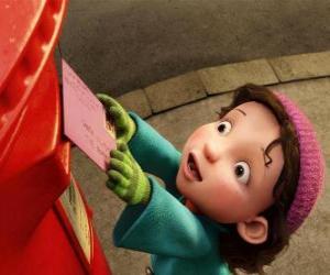 Gwen, das Mädchen zu die Arthur das Weihnachtsgeschenk liefern muss puzzle