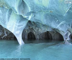 Höhlen von Marmor, Chile puzzle