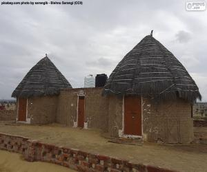 Hütten in Indien puzzle
