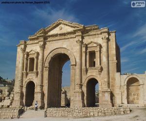 Hadriansbogen, Jordanien puzzle