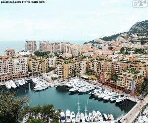 Hafen von Fontvieille, Monaco puzzle