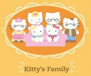 Hallo Kitty's Familie puzzle