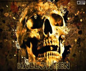 Halloween Schädel puzzle