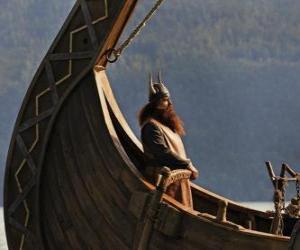 Halvar, übernimmt das Ruder des Bootes puzzle