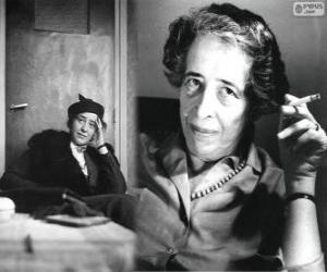Hannah Arendt, ein jüdische deutsch-amerikanische politische Theoretikerin und Publizistin puzzle
