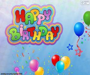 Happy Birthday zum Geburtstag puzzle