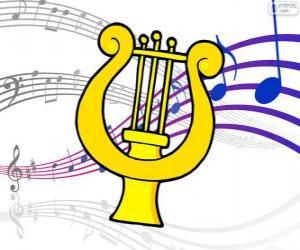 Harfe, Zeichnung puzzle
