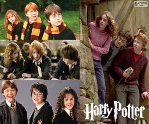 Harry Potter und seine freunde Ron und Hermine puzzle