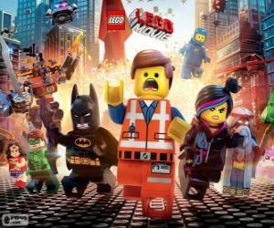 Hauptfiguren aus dem Film Lego puzzle