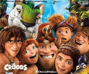 Hauptfiguren der Croods puzzle