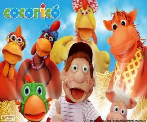Hauptfiguren der Hof Cocorico puzzle