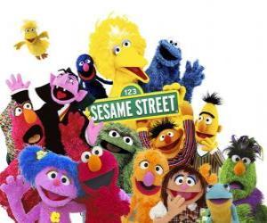 Hauptfiguren der Sesamstraße puzzle