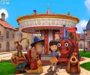 Hauptfiguren des Film Das Zauberkarussell puzzle
