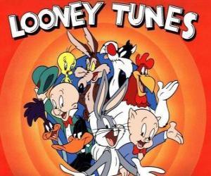 Hauptfiguren Looney Tunes puzzle