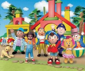 Hauptpersonen des Noddy puzzle