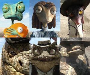 Hauptprotagonisten des Film Rango puzzle