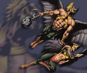 Hawkman oder Hawkgirl puzzle