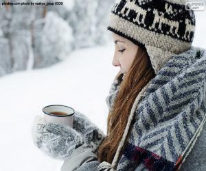 Heißes Getränk für Kälte puzzle