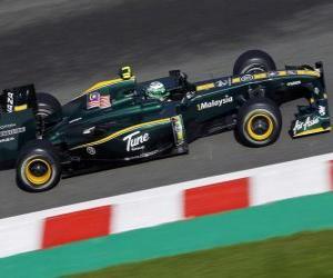 Heikki Kovalainen - Lotus - Spa-Francorchamps 2010 puzzle