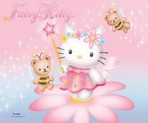 Hello Kitty, der garten fee puzzle