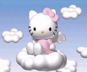 Hello Kitty fliegt über eine wolke puzzle