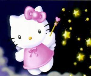 Hello Kitty ist ein Märchen unter den Sternen puzzle