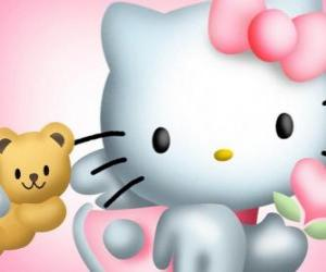 Hello Kitty mit ihrem Teddybär Tiny Chum puzzle