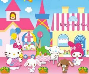 Hello Kitty und ihre Freunde genießen einen Tag im Pastry puzzle