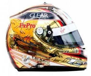 Helm Timo Glock 2010 puzzle