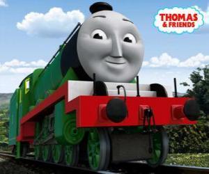 Henry, die lange und schnelle grüne Lokomotive Nummer 3 puzzle
