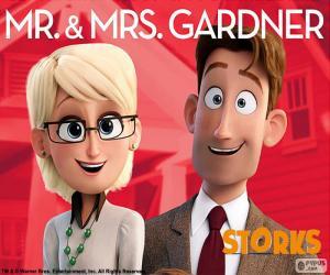Herr und Frau Gardner, Störche puzzle