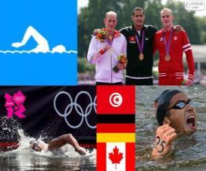 Herren 10 Kilometer schwimmen London 2012 puzzle