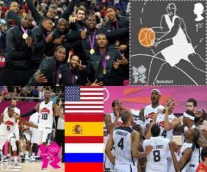 Herren-Basketball-Podium London 2012 puzzle