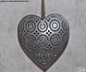 Herz aus Metall puzzle
