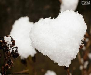 Herz aus Schnee puzzle