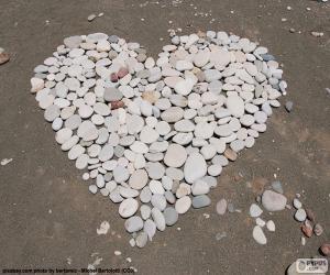 Herz aus Steinen puzzle