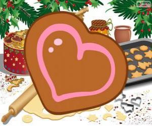 Herz geformten keks puzzle