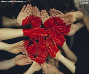 Herz in Händen puzzle