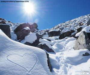 Herzen im Schnee puzzle